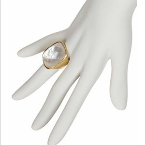 NEW Rivka Friedman Faceted Rock Crystal Ring